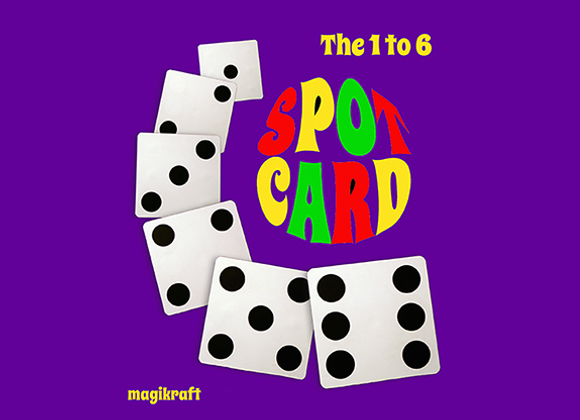 1 TO 6 SPOT CARD by Martin Lewis (GV $35)
