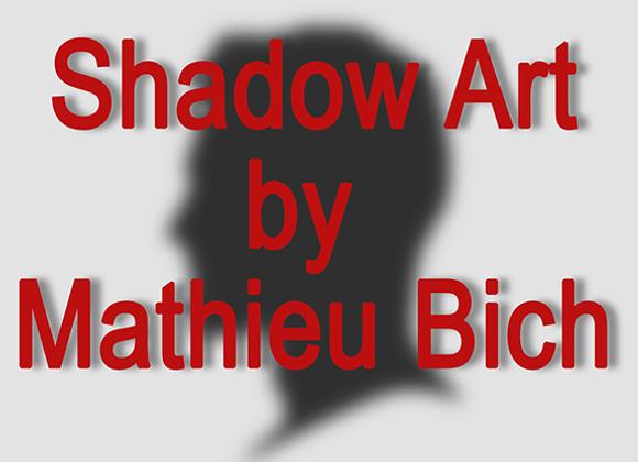 Shadow Art (Bat Man) by Mathieu Bich