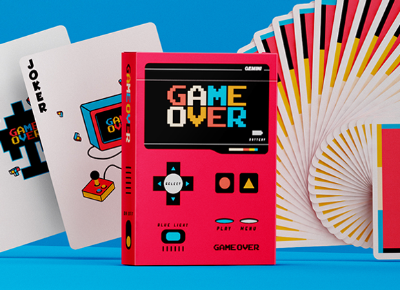Game Over Red Playing Cards by Gemini (GV $2)