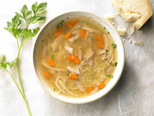Chicken Soup with Couscous