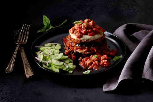 Stacked Eggplant Parmesan