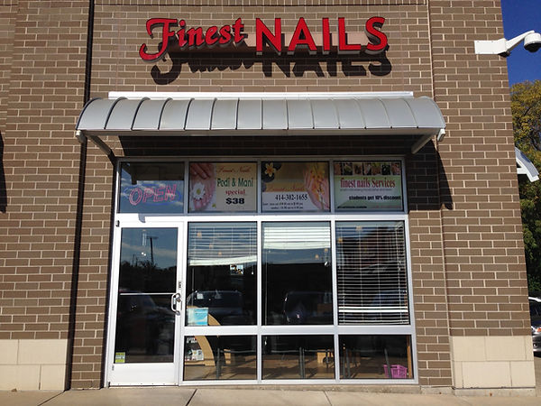 finest nails salon front
