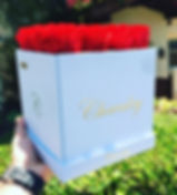 Gorgeous Red Roses in White Box. Best Valentine's Day Roses and Mother's Day Flowers. Long Lasting Luxurious Flowers in Boxes.