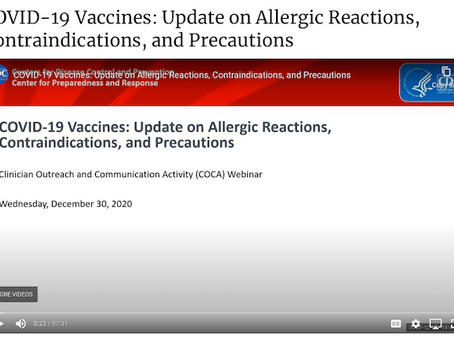 CDC Clinician Outreach and Communication Activity Videos of recent COVID-19 Communications