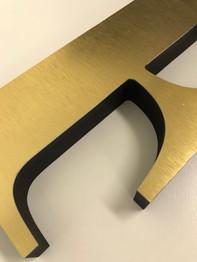 "1"" PVC with Brushed Gold Laminate"