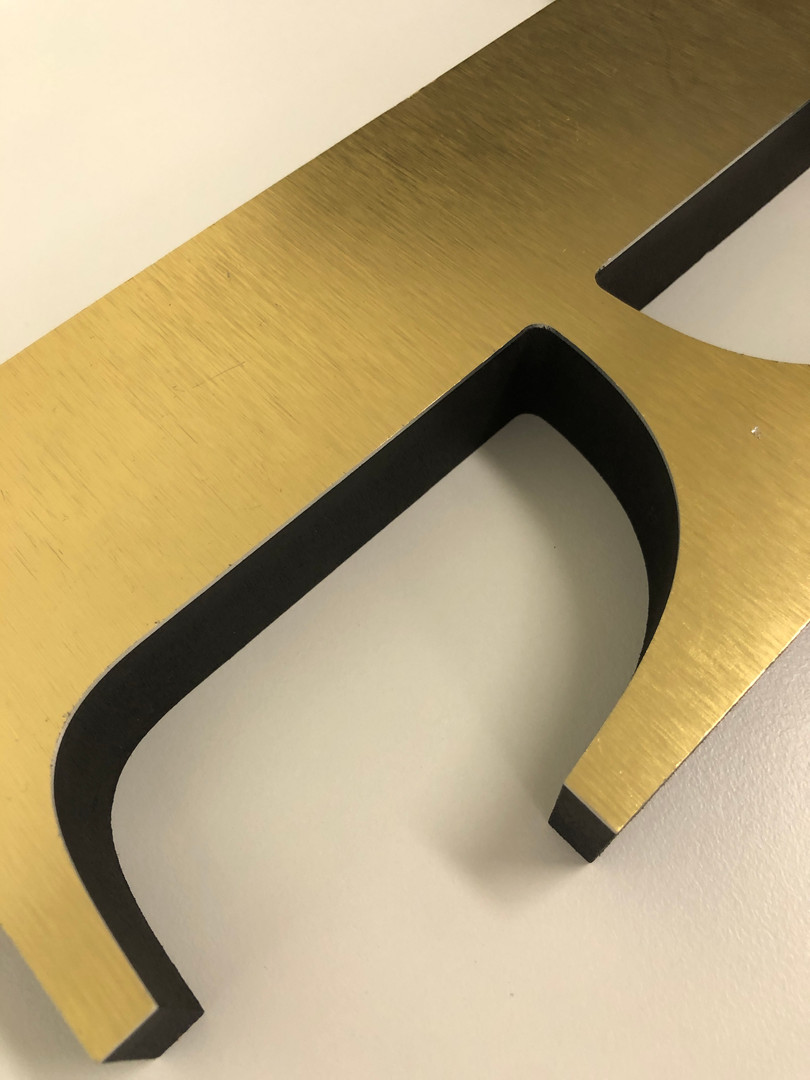 "1"" PVC with Brushed Gold Laminate"