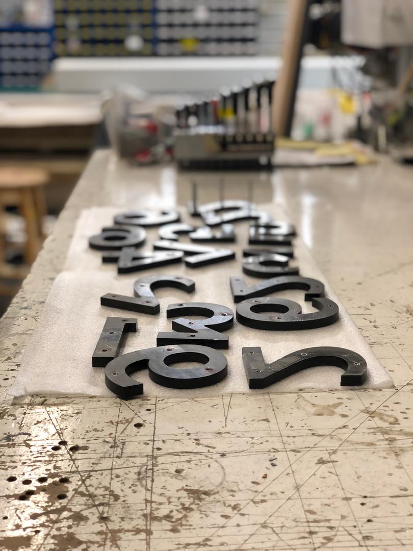 """1/2"""" Aluminum Letters"""