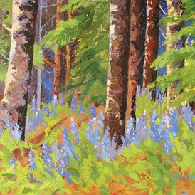 Deep Woods, Oil on Canvas, 36 x 48, SOLD