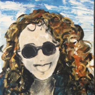 Self Portrait, acrylic