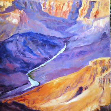The Grand Canyon-Desert View. Oil 18x24