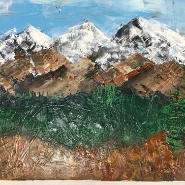 Mountain Splendor, acrylic,  24 x 19