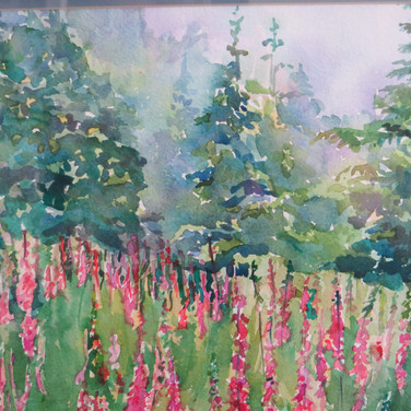Springtime at Crested Butte Watercolor 18x24 SOLD