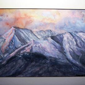 Sunrise Over Mt. Princeton Watercolor 10x14 SOLD