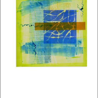 """""""Lime Green 1"""" Mono Print 15""""H x 11""""W"""