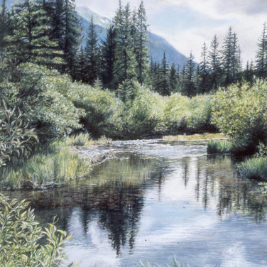 Chalk Creek, Chaffee County, pastel, 18 x 24, SOLD to and displayed at Heart of the Rockies Regional Medical Center, Salida, Colorado