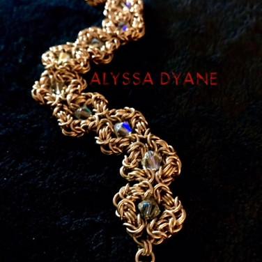 """14K Gold Fill and Swarovski Crystal """"Romanov"""" Bracelet"""