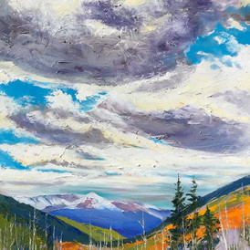 Cloudy Day, Mt. Elbert, Oil on Canvas, 36 x 48,  $2500.