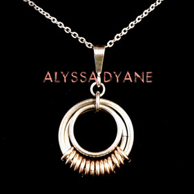 """14K Gold Fill and Sterling Silver """"Serenity"""" Necklace"""