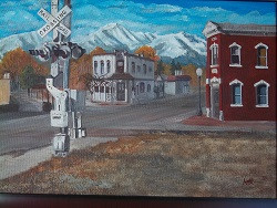 Our Town, acrylic