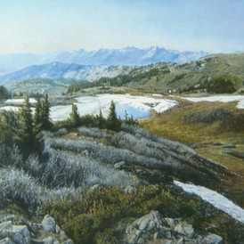 Cottonwood Pass in Early May, oil, 40 x 30, SOLD