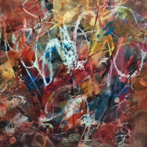 Looking for Grounding, acrylic, 18 1/2 x 24 1/2