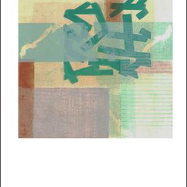 """Flying Boards 3"" Mono Print 15""H x 11""W"