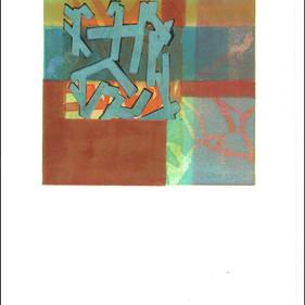 """Flying Boards 4"" Mono Print 15""H x 11""W"