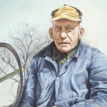 Kansas Farmer, pastel, 18 x 24, Family Owned, Best of Show and Numerous Awards