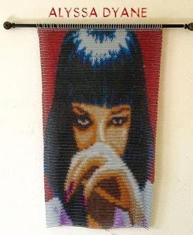 """""""Mrs. Mia Wallace"""" Chainmaille Tapestry"""