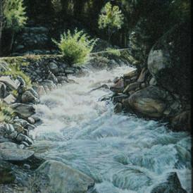 Cascade Falls, Chalk Creek, oil, 14 x 20, SOLD