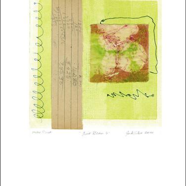 """""""Lime Green 4"""" Mono Print 15""""H x 11""""W"""
