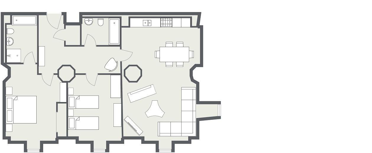 Abbey Church 2 - Ground floor - 2D Floor