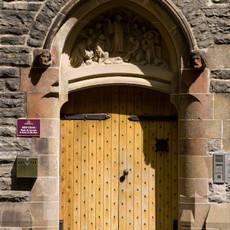 Moat House entrance door