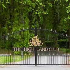 The Highland Club Gated Entrance