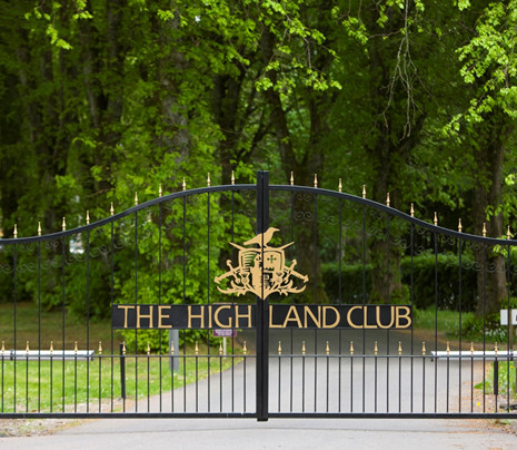 The Highland Club Gated Entrance