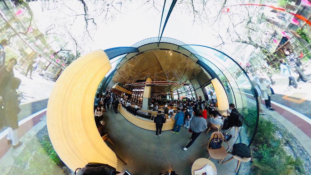 STARBUCKS RESERVE® ROASTERY TOKYOで撮影した360°写真