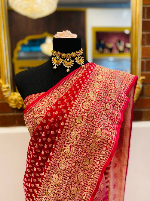 Pure banarsi khadi with real handwork