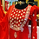 Thumbnail: Red color short kurta with pittal work on neckline comes with sharara