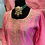 Thumbnail: Pink kurta with gotta patti handwork all over comes with mint sharara