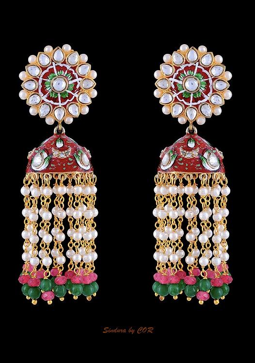 Meenakaari Kundan Earing