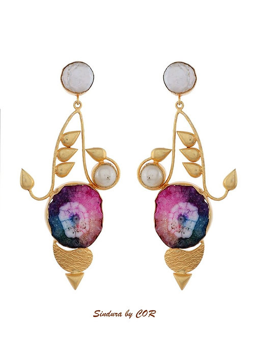 Western stype natural stone earing