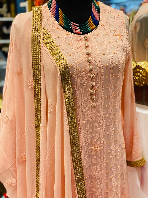 Chikankari Georgette Suits ( Pearl Work )