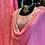 Thumbnail: Pure georgette kurta with Pittan handwork set
