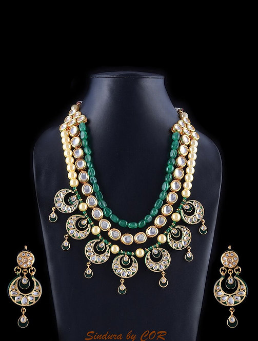 Three layer Kundan set