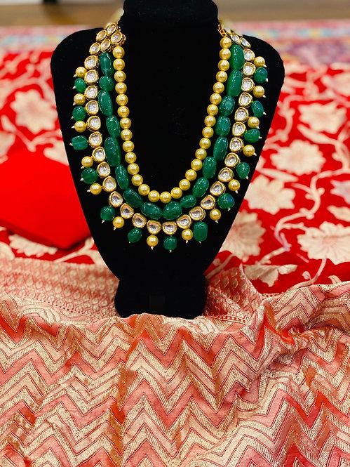 Beads kundan set