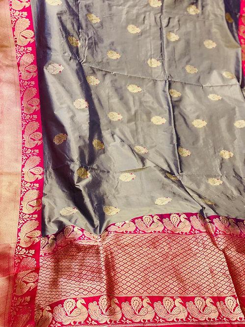 Banarsi Tussar silk Saree
