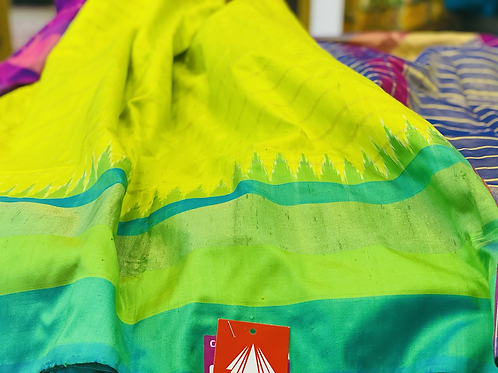 Pure silk saari in Tample border