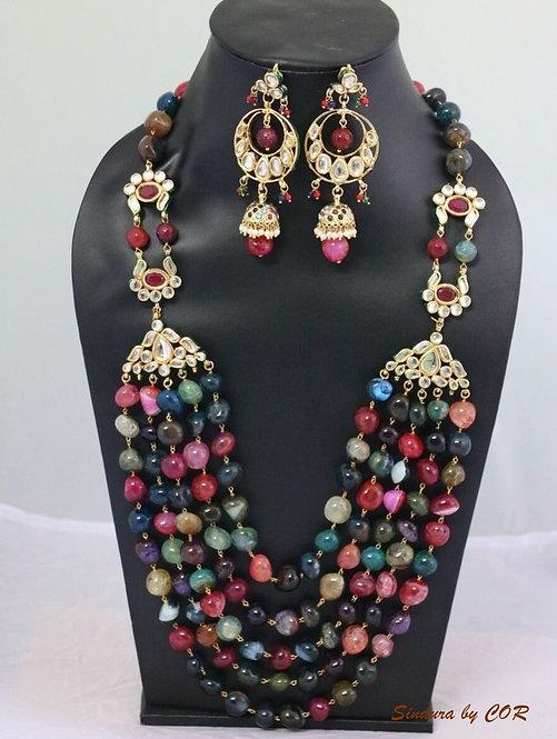 Multi colored stone beads set