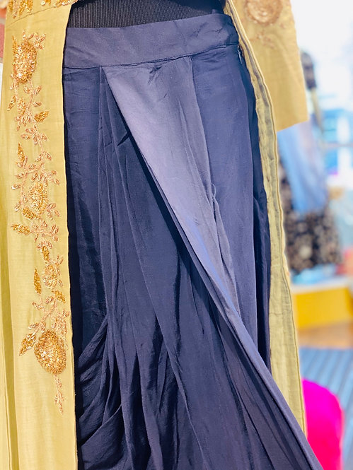 Indowestern  style heavy embroidery cape style kurta comes with dhoti style pant