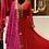 Thumbnail: Gorgette red floor length Anarkali